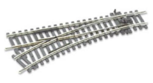 Peco St-241 Setrack No.2 Radius, Left Hand Turnout Code 100 Rail Oo/ho Gauge