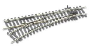 Peco ST-241 Setrack No.2 Radius Left Hand Turnout code 100 rail OO//HO Gauge