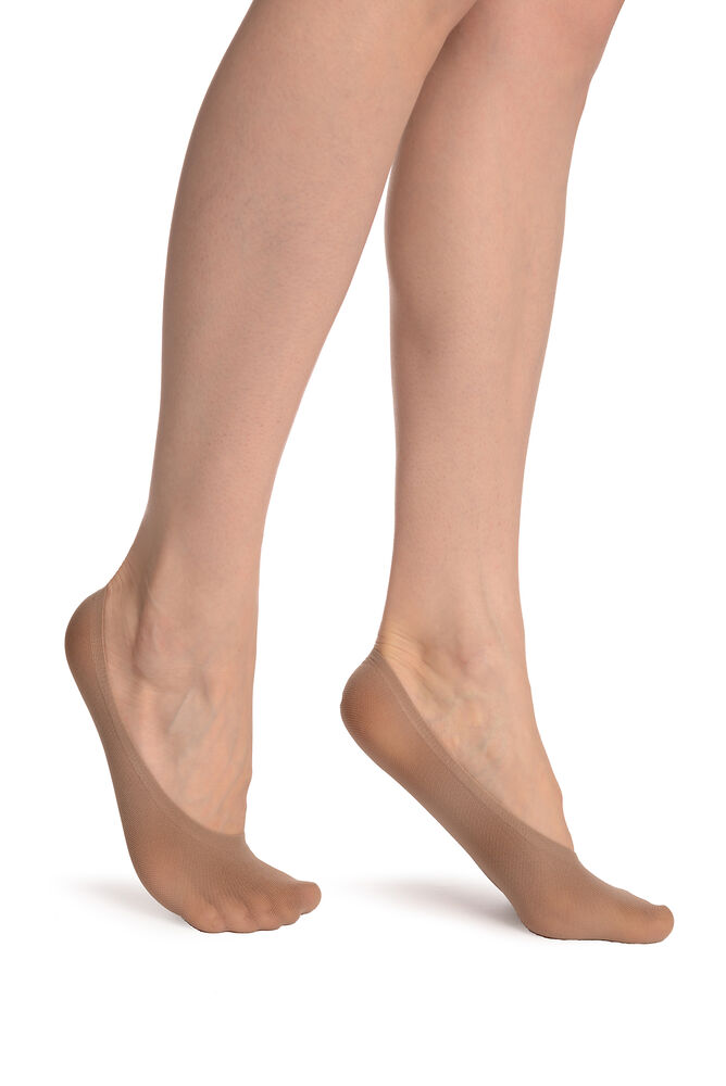 Beige Invisible 20 Den Footsies Chaussettes (so002027)
