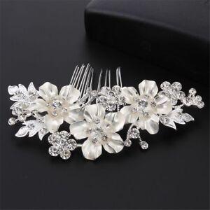 Bridal-Hair-Comb-Flower-Pins-Wedding-Clip-Crystal-Rhinestone-Hairpins