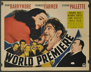 WORLD-PREMIERE-1941-ORIG-22X28-MOVIE-POSTER-A-JOHN-BARRYMORE-FRANCES-FARMER