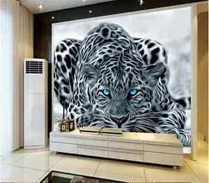 Details about 3D Sitting room the bedroom TV mural background animal  cheetah wallpaper 3507