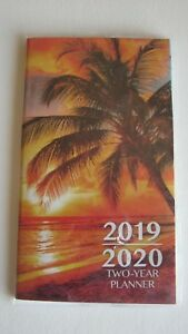 2019-2020-Two-2-Year-Ocean-Sunset-Palm-Tree-PLANNER-Pocket-Purse-Calendar-Beach