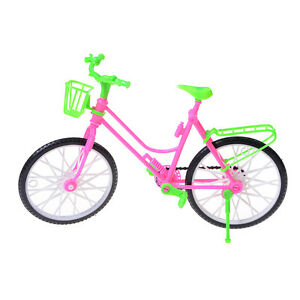 Cute-Detachable-Plastic-Bike-Bicycle-Wheel-For-Multicolor-Doll-Toy-Princess-AU