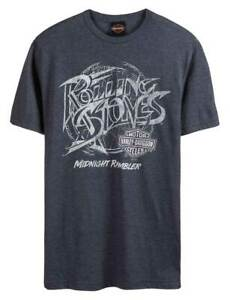 Black Harley-Davidson Men/'s Rolling Stones Midnight Rambler Long Sleeve Shirt