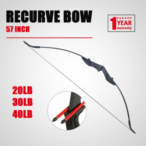 20 30 40lbs Right Left Hand Hunting Target Archery Takedown Recurve Bow 57in