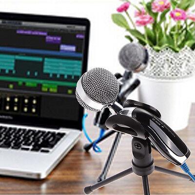USB Professional Condenser Microphone Mic Studio Sound Recording + Shock Mount