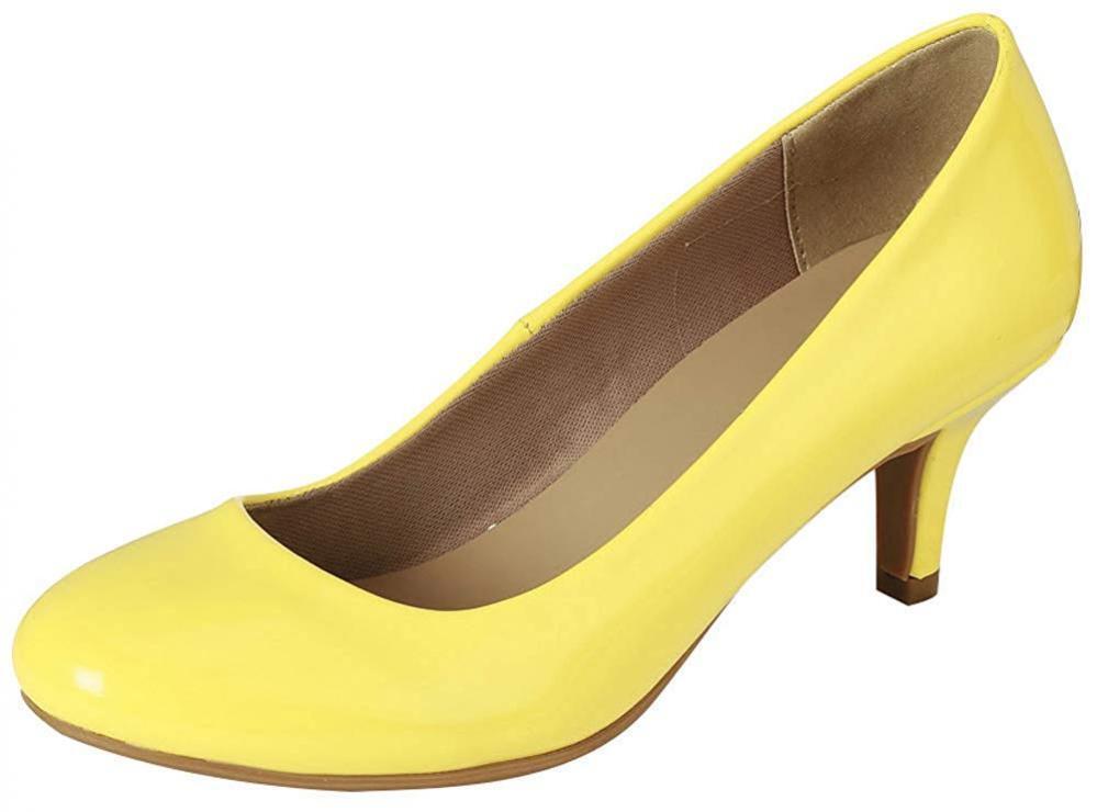 Para mujeres Vestido De Clásico De Vestido Punta rojoonda Tacón Gatito Zapatos Stiletto Bomba De Trabajo Comodidad aeac20