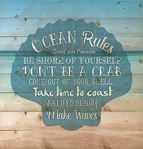 Ocean-Rules-Seashell-Beach-Design-12-x-12-Wood-Pallet-Design-Wall-Plaque
