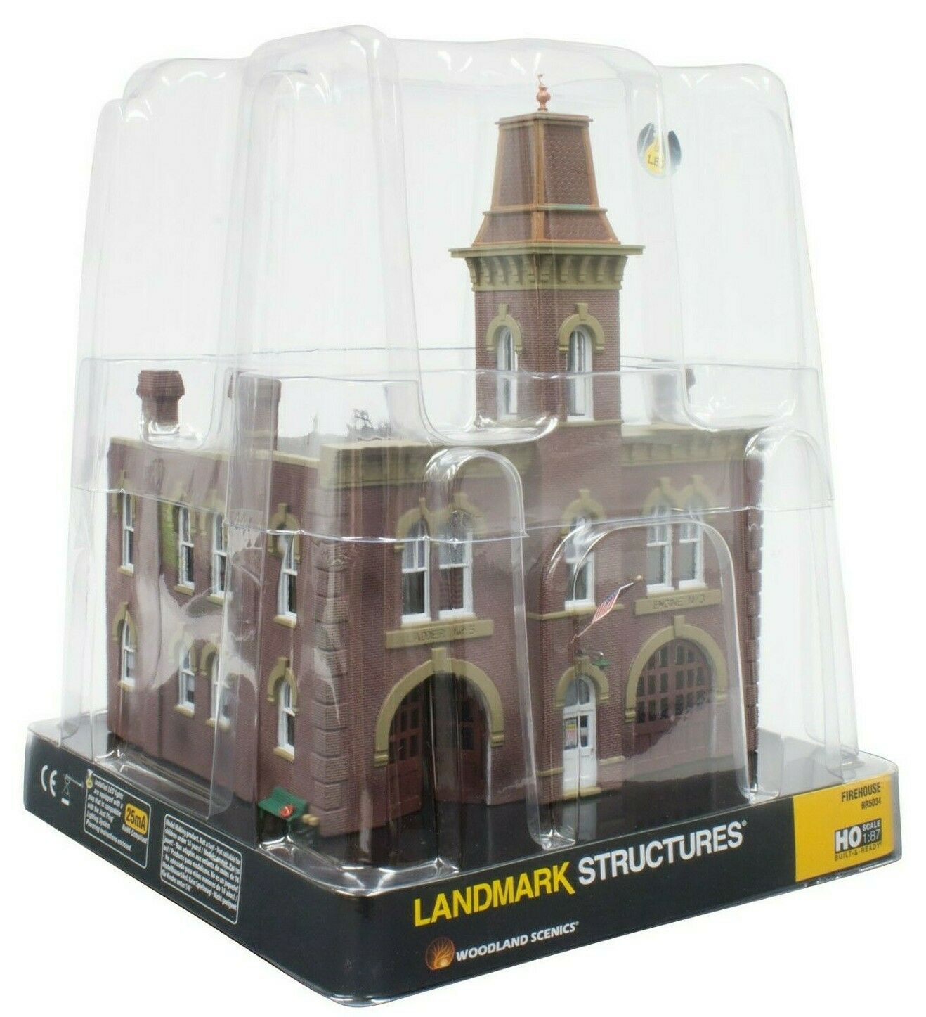 HO Scale Woodland Scenics BR5034 Firehouse Built & Ready Landmark Structure