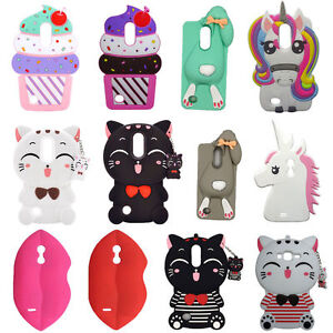 sports shoes d0f96 f7646 Details about Lucky Cat Unicorn Rabbit Silicone Case for LG K8 2017 /LG  Aristo/LV3(MS210)