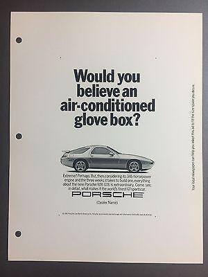 Porsche 928 1980/'s advert promo poster