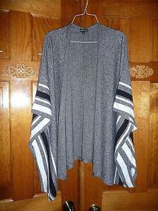Women's Express Gray Sweater Kimono One Size