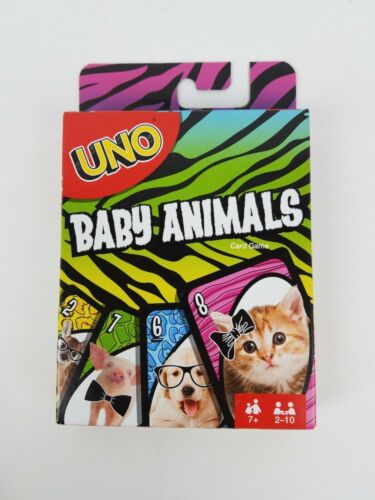 Uno Baby Animals edition Mattel card game
