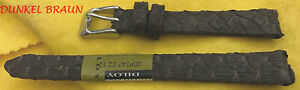 echtes-reptil-Reloj-Pulsera-de-cuero-Culebra-MODE-Marron-Disponible-en-12mm