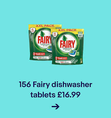 156 Fairy dishwasher tablets for £16.99