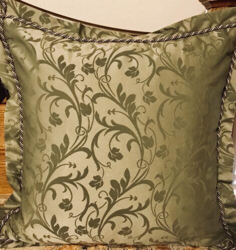 "Euro Sham 26"" Bella Rose Retail $125 Neiman Marcus Horchow New W//T"