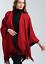 UK-Womens-Ladies-Side-Split-Tassel-Winter-Shawl-Cape-Poncho-Scarf-Wrap thumbnail 3