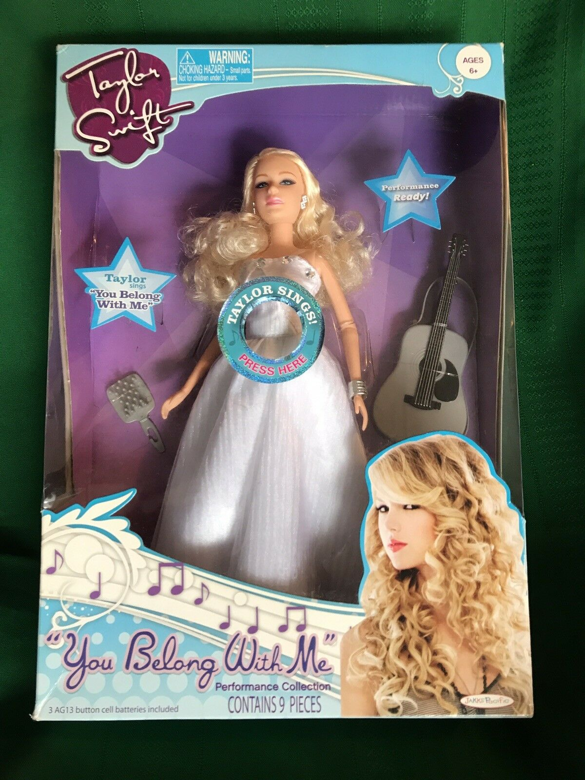 Taylor Swift 11  Coleccionistas Muñeca W Moda Y Guitarra cantar  perteneces conmigo