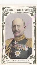 Chromo CHOCOLAT GUéRIN BOUTRON Général de Moltke Etat Major Allemand n 243 /500