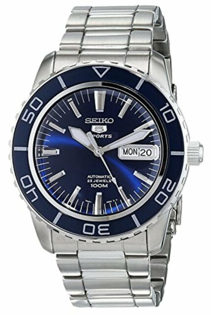 Seiko Men's Seiko 5 Automatic Dark Blue Dial Stainless Steel Watch SNZH53
