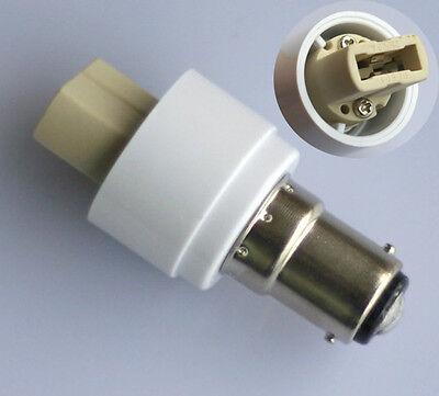 2x HIGH QUALITY SBC B15/BA15D to G9 Lamp Holder Adaptor Socket LED Converter