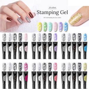 5Pcs-BORN-PRETTY-8ml-Nail-Art-Stamping-Gel-Soak-Off-UV-LED-Gel-Polish