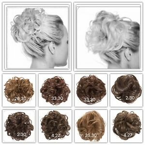 Koko-Synthetic-Hair-Scrunchie-Hairpiece-Wrap-Messy-Updo-Bun-Various-Shades