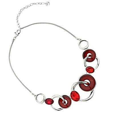 """Statement Fashion Jewellery Long 40/"""" Red and Black Neoprene Rubber Necklace ..."""