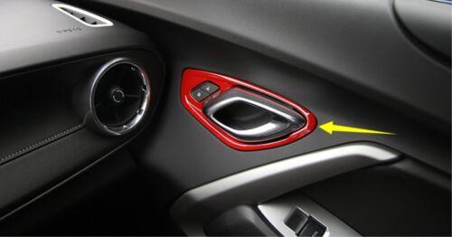 Red Interior Door Handle bowl Panel cover trim for Chevrolet Camaro 2017 2018
