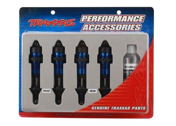 Conjunto de choque Traxxas Aluminio GTR (Azul) (4) - TRA5460A