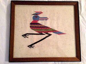 Framed Handwoven Textile Weaving THUNDERBIRD ART?