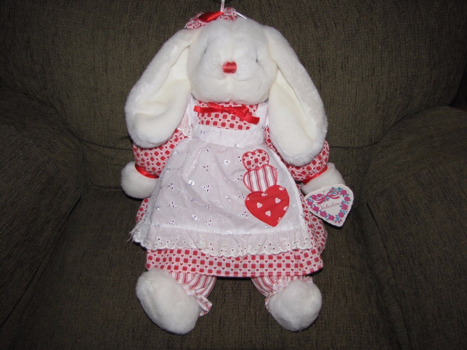 1995 FORDLET INTERNATIONAL LTD KMART VALENTINE BUNNY RABBIT STUFFED PLUSH NWT