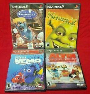 Disney-Ratatouille-Chipmunks-Shrek-Nemo-PS2-Playstation-2-COMPLETE-Game-Lot