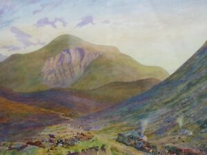 WATERCOLOUR-MOUNTAIN-VIEW-LISTED-ARTIST-WILLIAM-MONK-RE-FREE-SHIPPING-ENGLAND