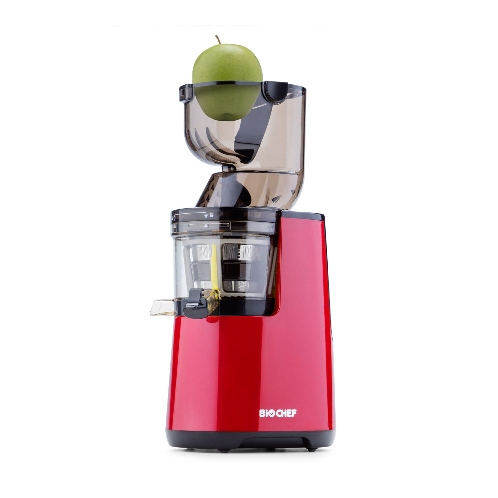 BioChef Whole Slow Juicer, Cold Press jus & Sorbet Attachment-Rouge