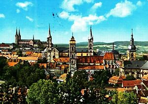 Bamberg-Vierkirchenblick-Ansichtskarte-1986-gelaufen