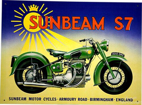 *092 Classic British Motorcycle Sunbeam S7 vintage bike Oldtimer Motorrad Schild