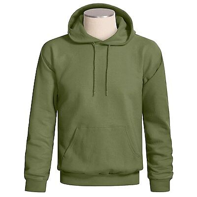 Hanes Cotton Rich Pullover Hoodie Unisex 2XL pine green NEW $24