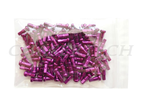 "New MTB Road BMX Bike 7075 Alloy Spoke Nipples 2.0mm 14G 1//2/"" 72 Pcs Purple"