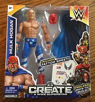 Wwe Hulk Hogan Wrestling Figure Mattel Create A Superstar Toy Patriot
