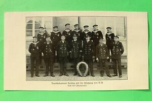 UM1-Marine-Kapitaenleutnant-Hersing-Besatzung-U-21-1914-1918-U-Boot-1-WK-WWI