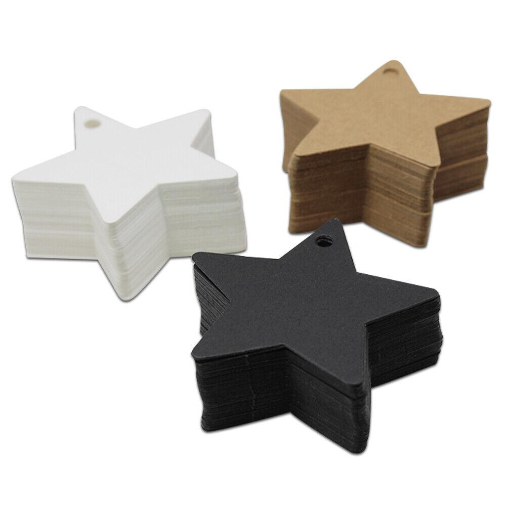 Variedad de formas de papel kraft etiqueta de equipaje etiquetas de bricolaje Colgar en blancoo Tarjetas De Regalo Fiesta