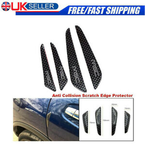 4X-protector-de-borde-de-puerta-de-coche-tira-Protector-aranazos-anti-colision-de-fibra-de-carbono