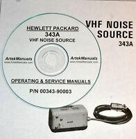 Hp Hewlett Packard 343a Vhf Noise Source Operating & Service Manual