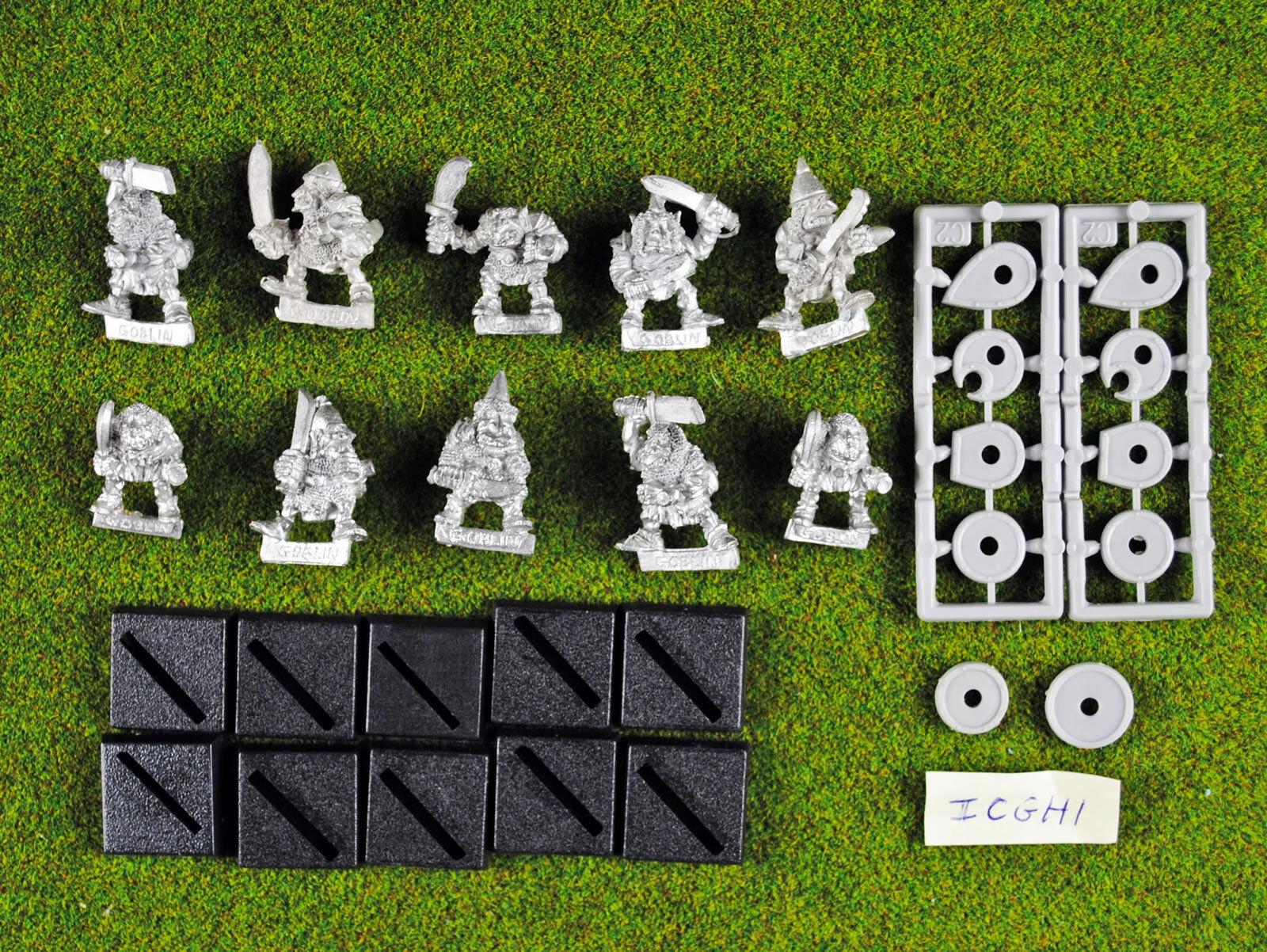 Warhammer Iron Claw Goblins (10 Loose) - Metal OOP - Citadel Goblin - Bob Olley