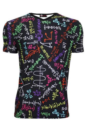 Men/'s Maths Mathematics Formula Back To School Printed V Neck Top T-Shirt Tee