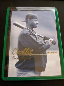 1997-Fleer-Ken-Griffey-Jr-492-HOF-Checklist-Rare-Seattle-Mariners