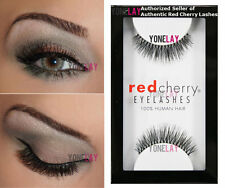 LOT 6 Pairs GENUINE RED CHERRY #213 Harley Human Hair False Eyelashes Lashes