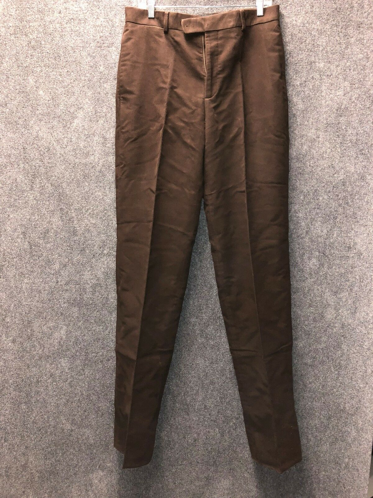 J. Peterman Men's Brown Brushed Cotton Dress Pants Size 32